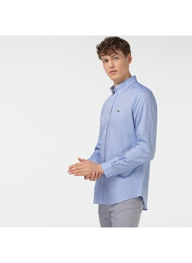 Lacoste Erkek Slim Fit Gömlek CH0101.01M Mavi